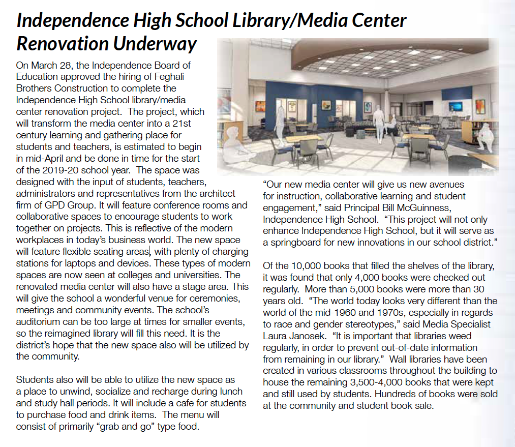 Library and Media Center renovation