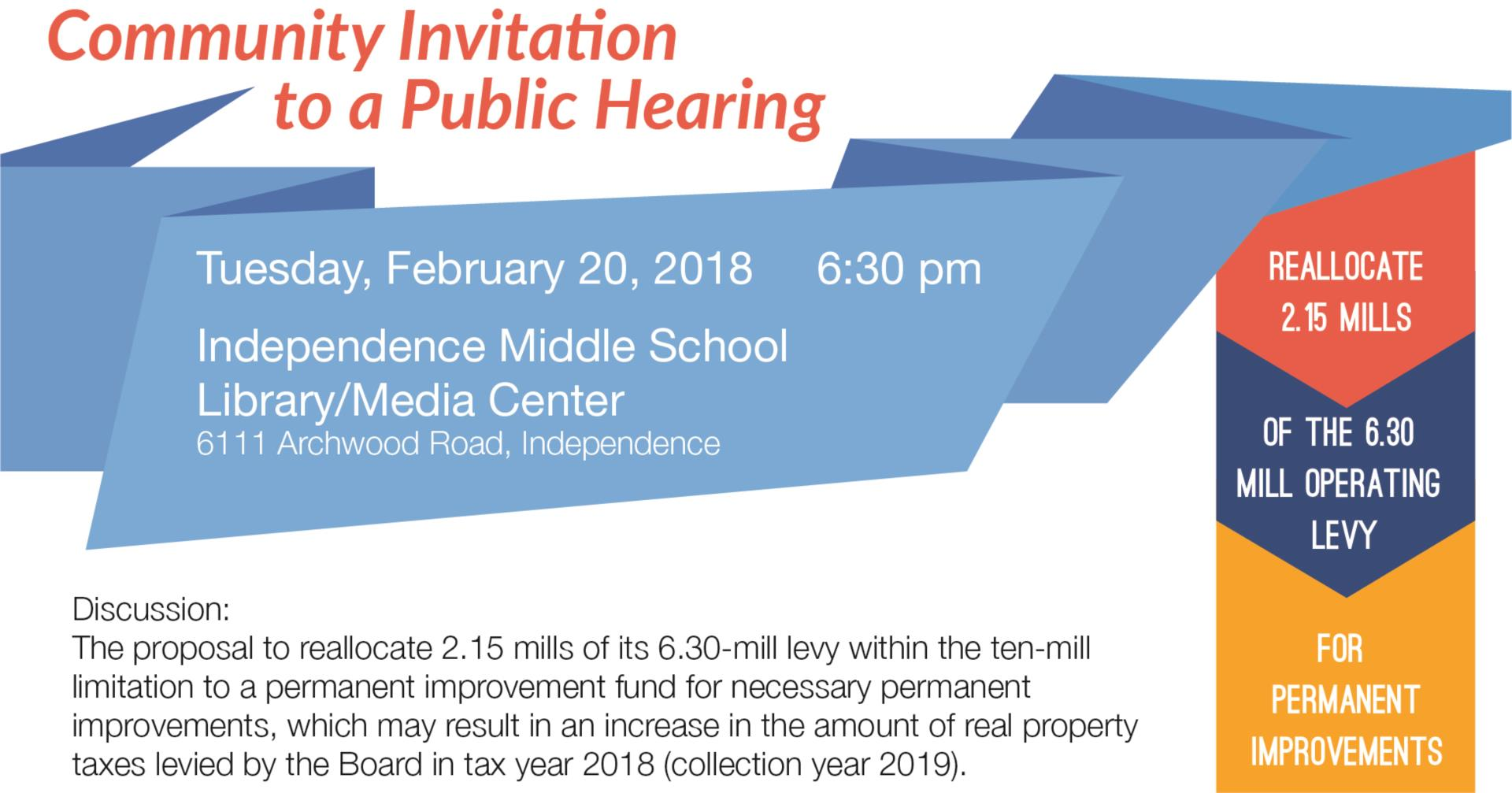 Invite to Community Meeting on February 20