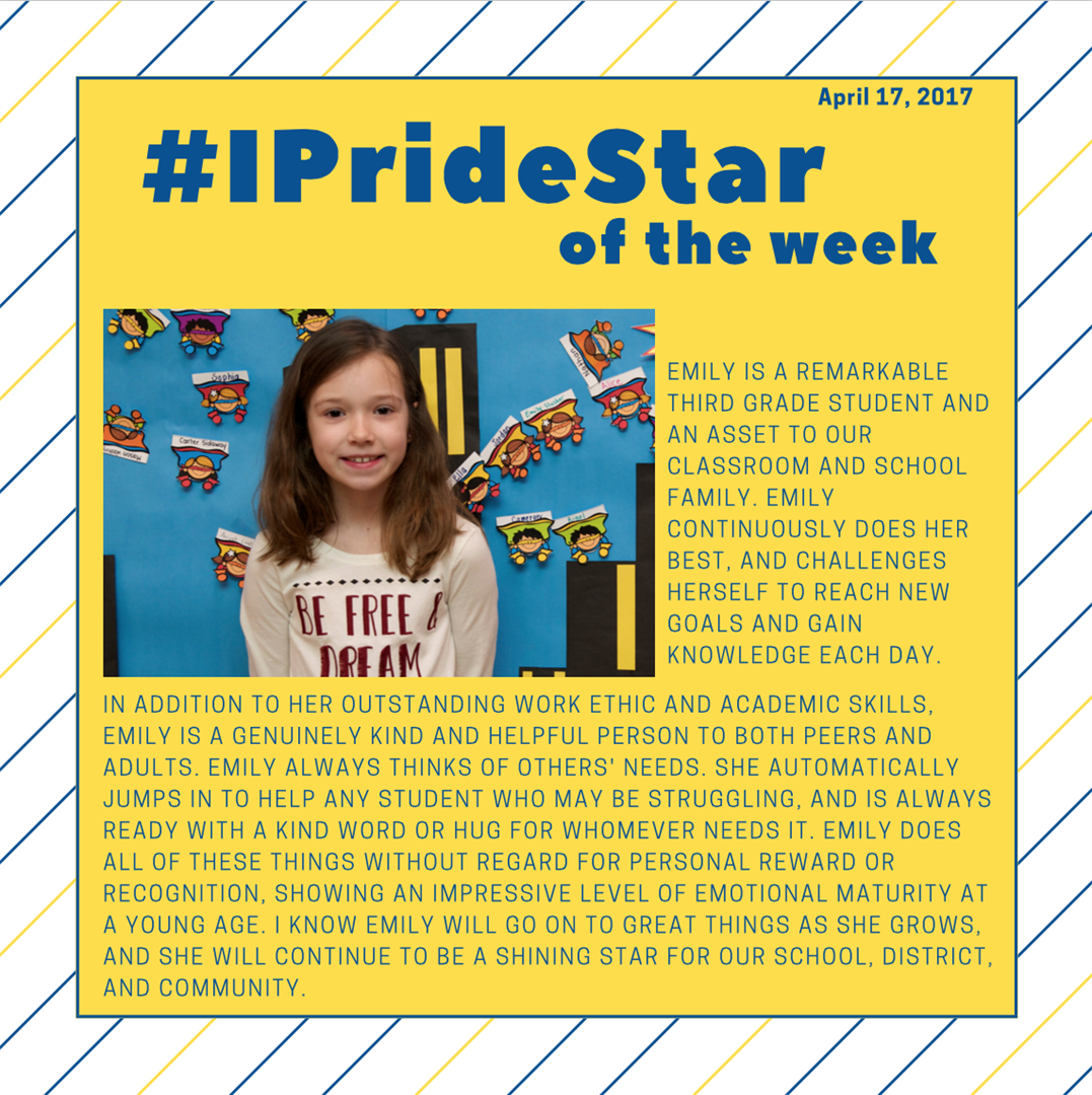 Emily Gibbons, IPRIDE Star of the Week
