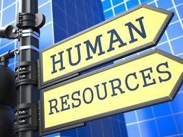 Sign that says Human Resources.