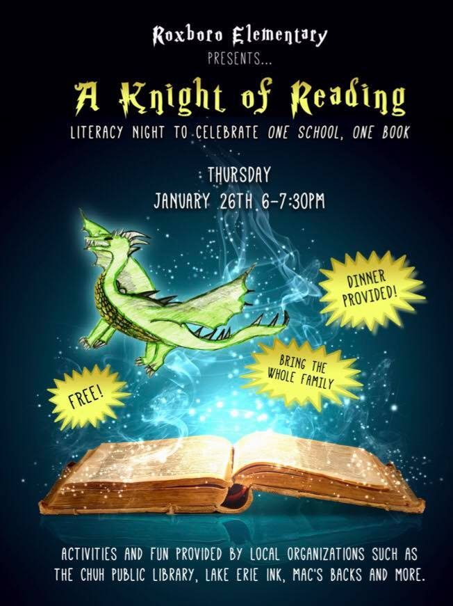 A flyer for literacy night