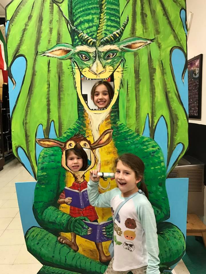 Students at literacy night