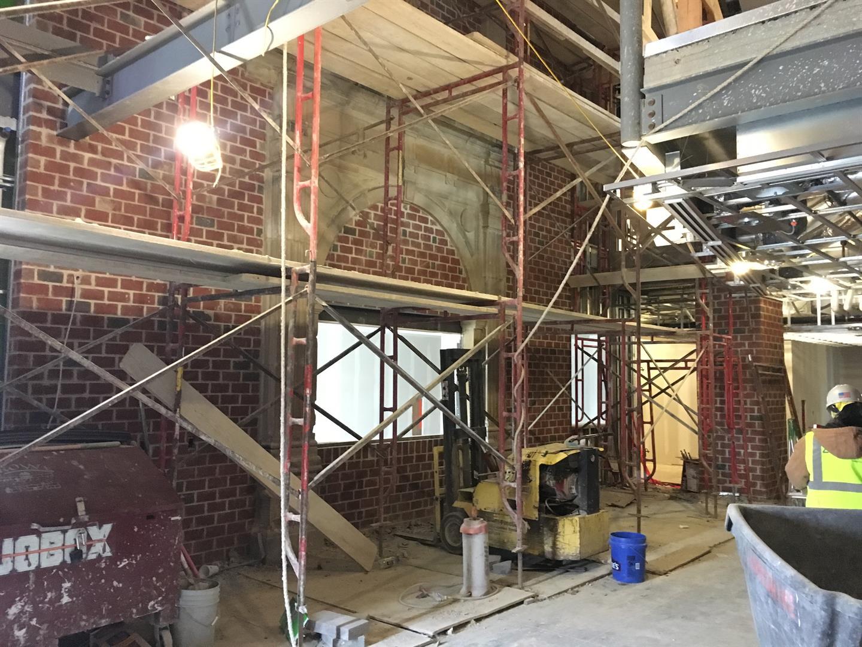 Interior Veneer Stone Installation Area F Atrium