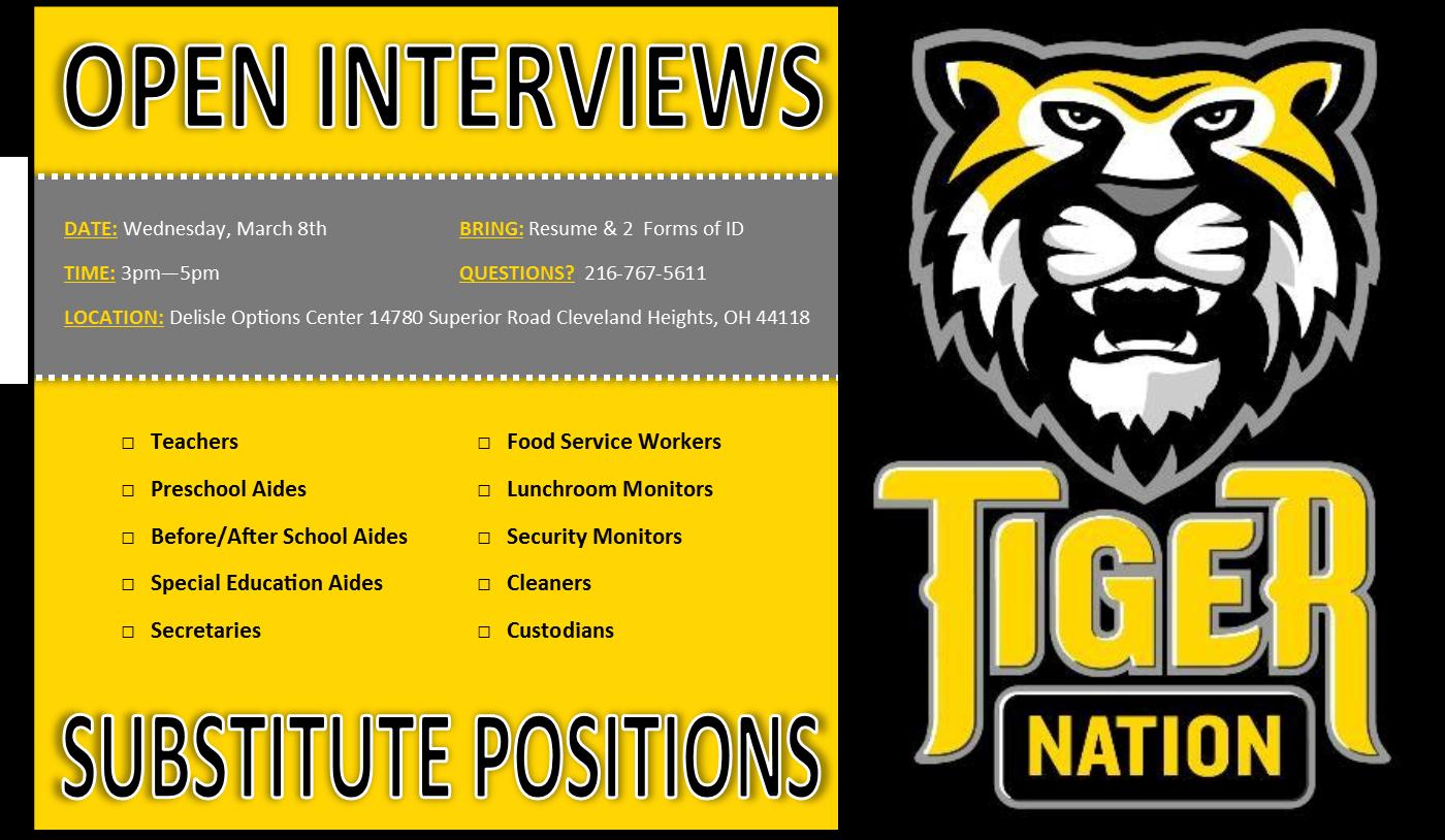 March 8 interviews flyer