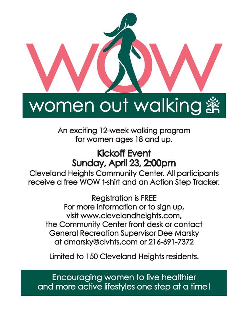 Women Out Walking flyer