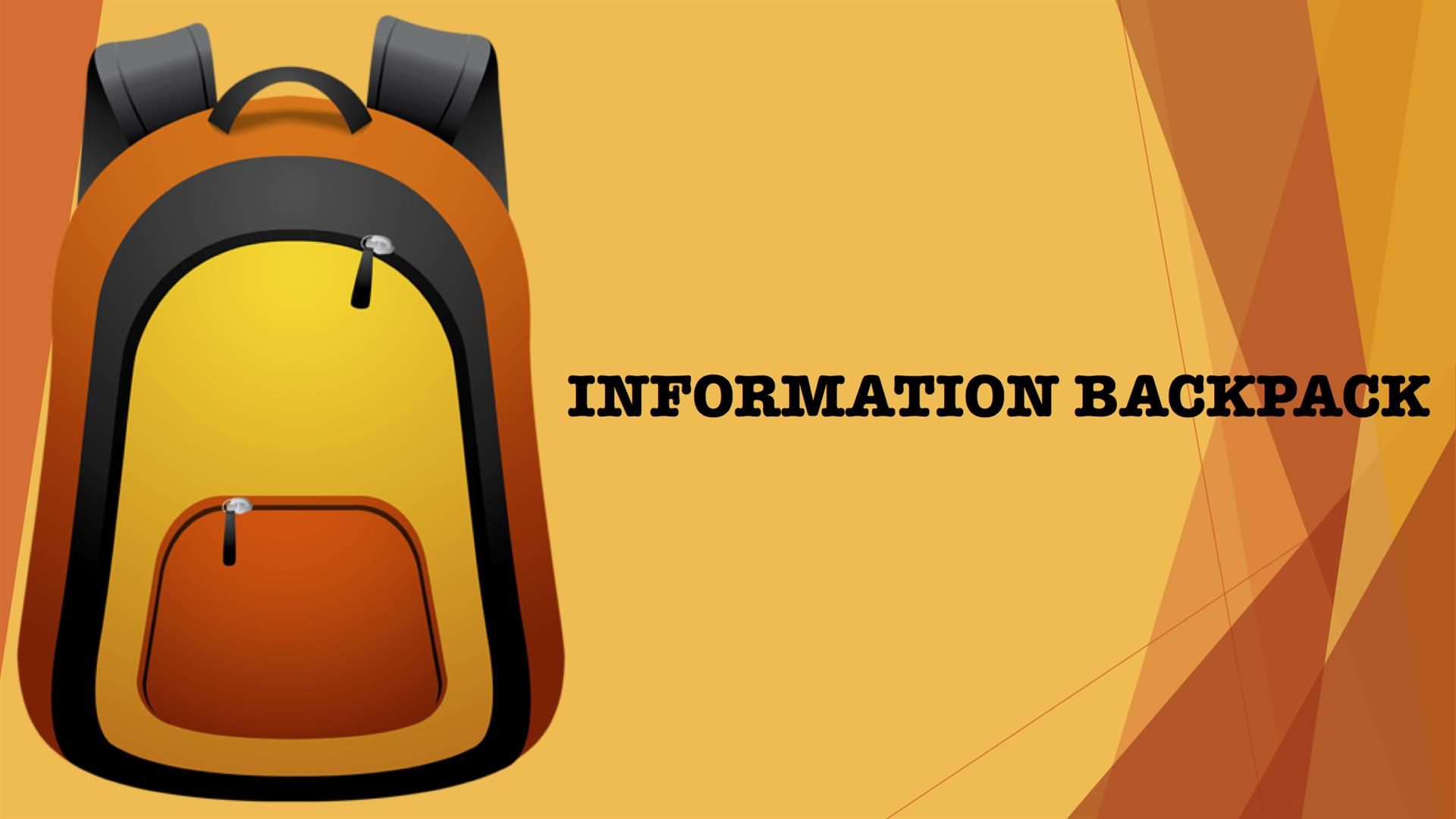 Information Backpack with logo