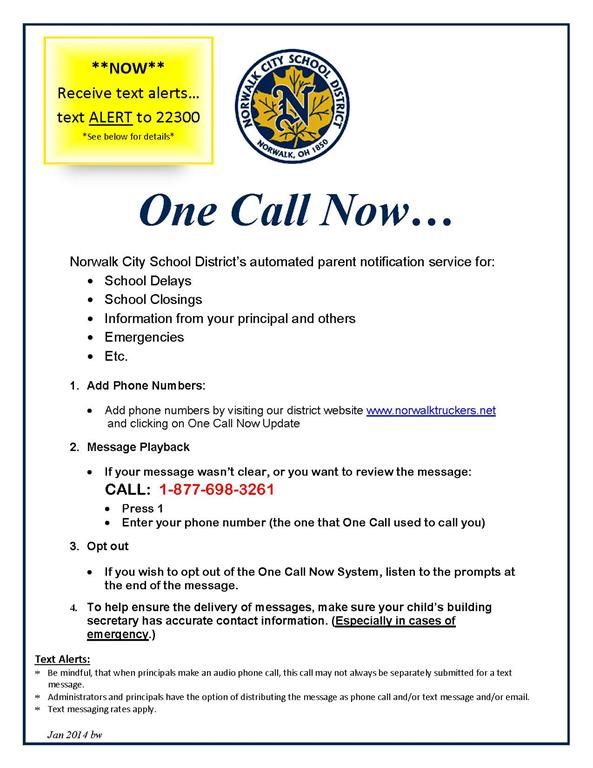 One Call Information