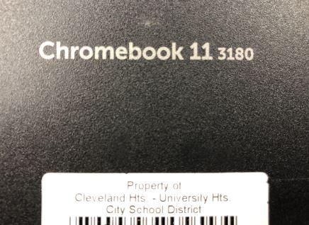 Chromebook model tag