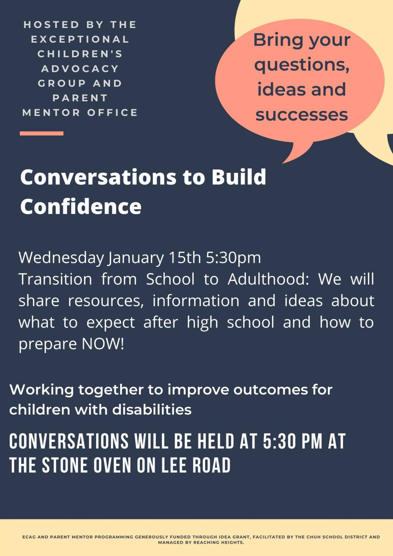 Conversations to Build Confidence Flyer
