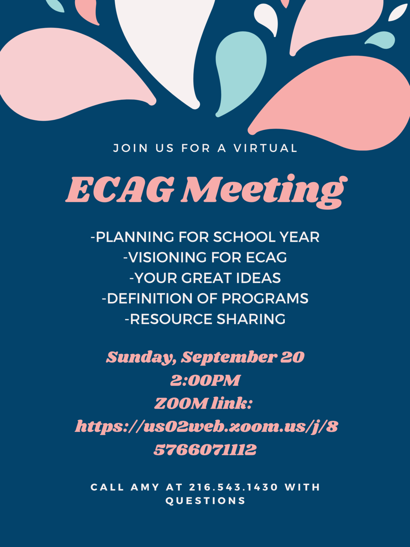 ECAG September 2020 Monthly Meeting