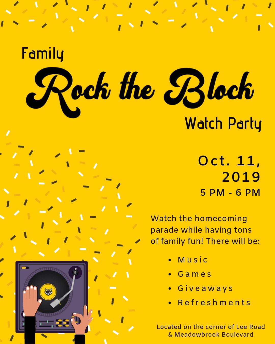 rock the block flyer