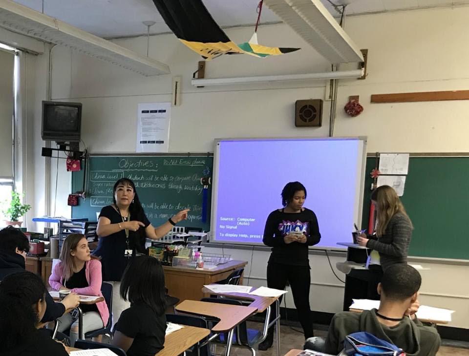 Hong Zenisek and classroom