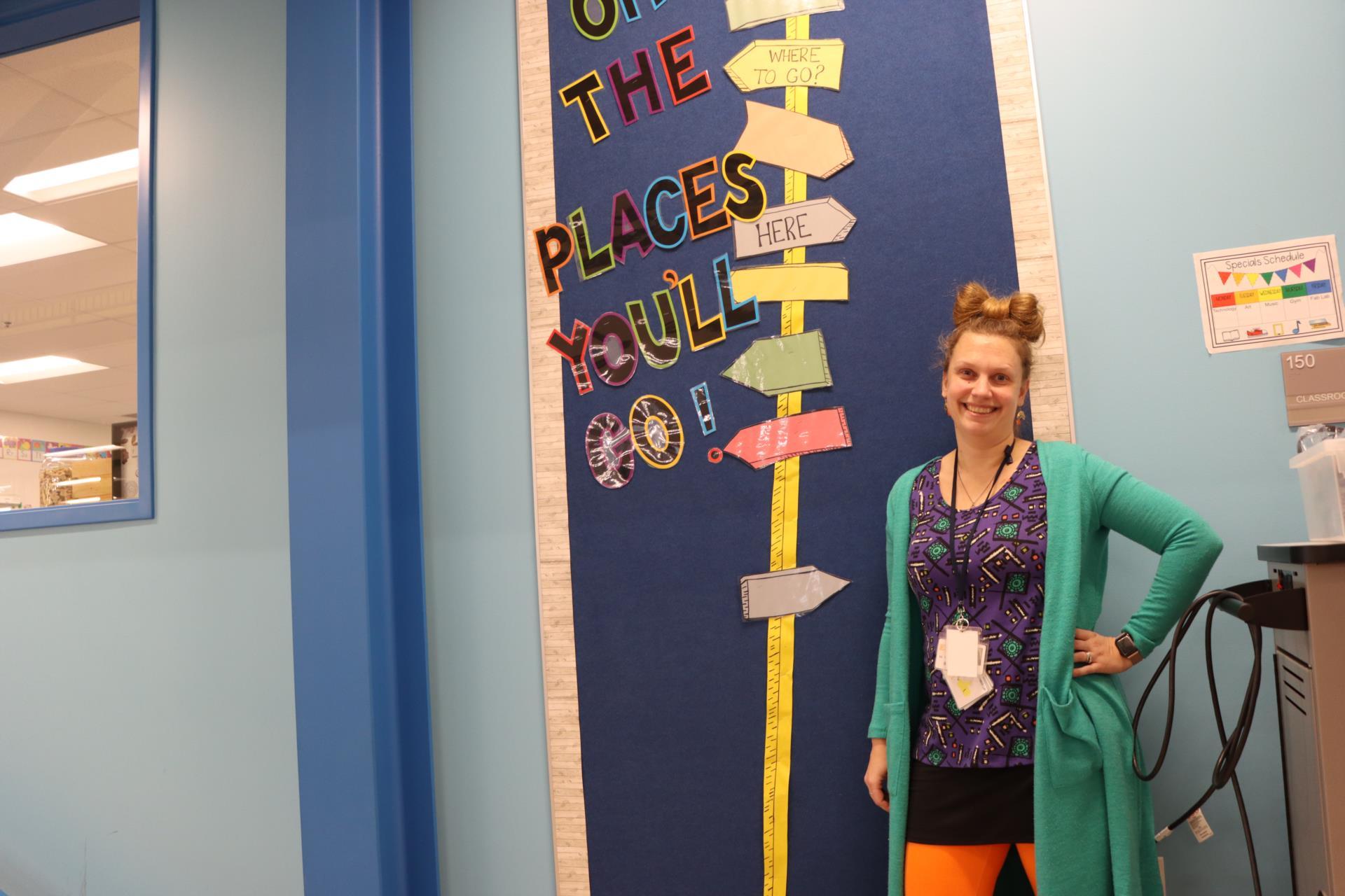 Teacher dresses up for Read Across America