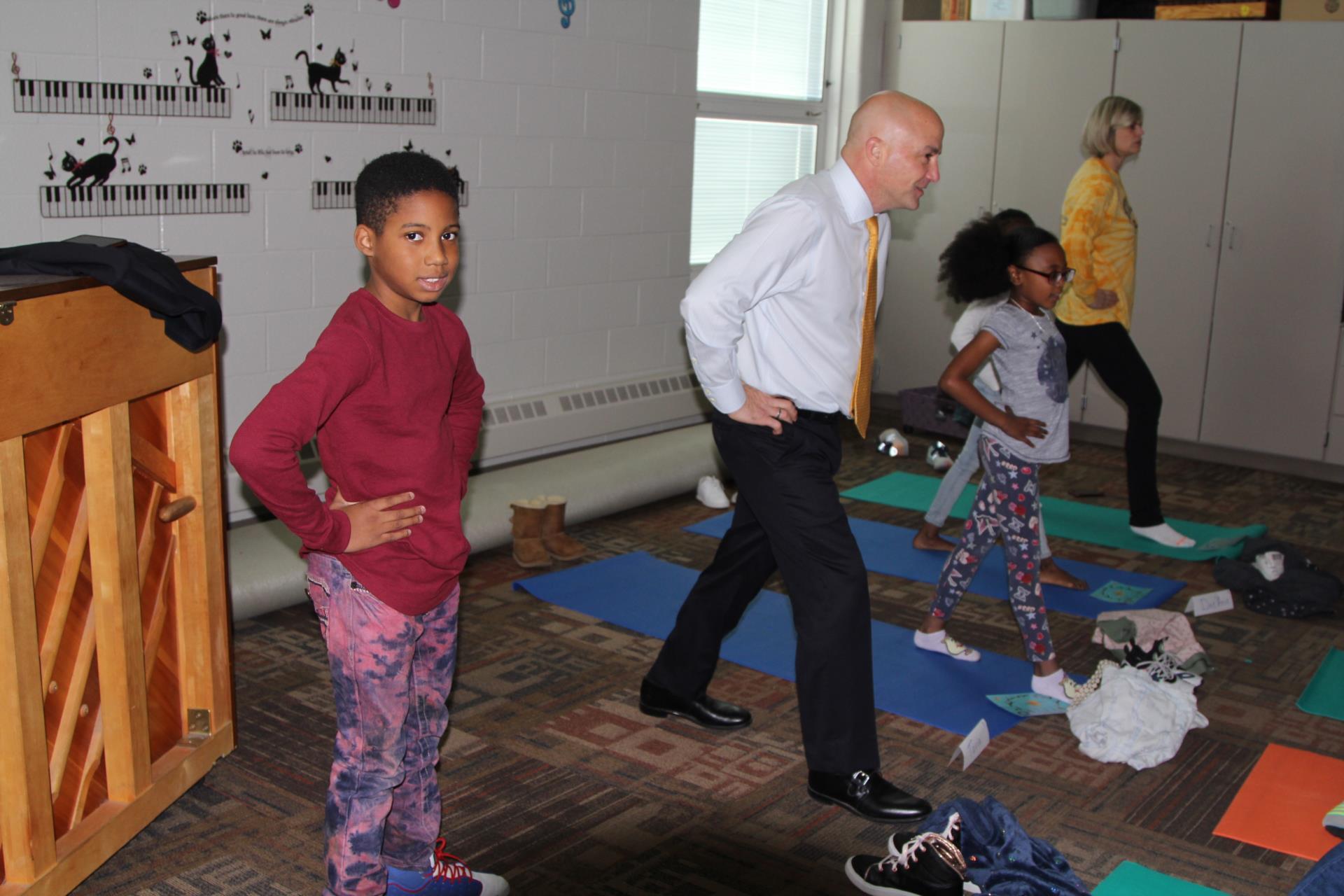 Children in yoga