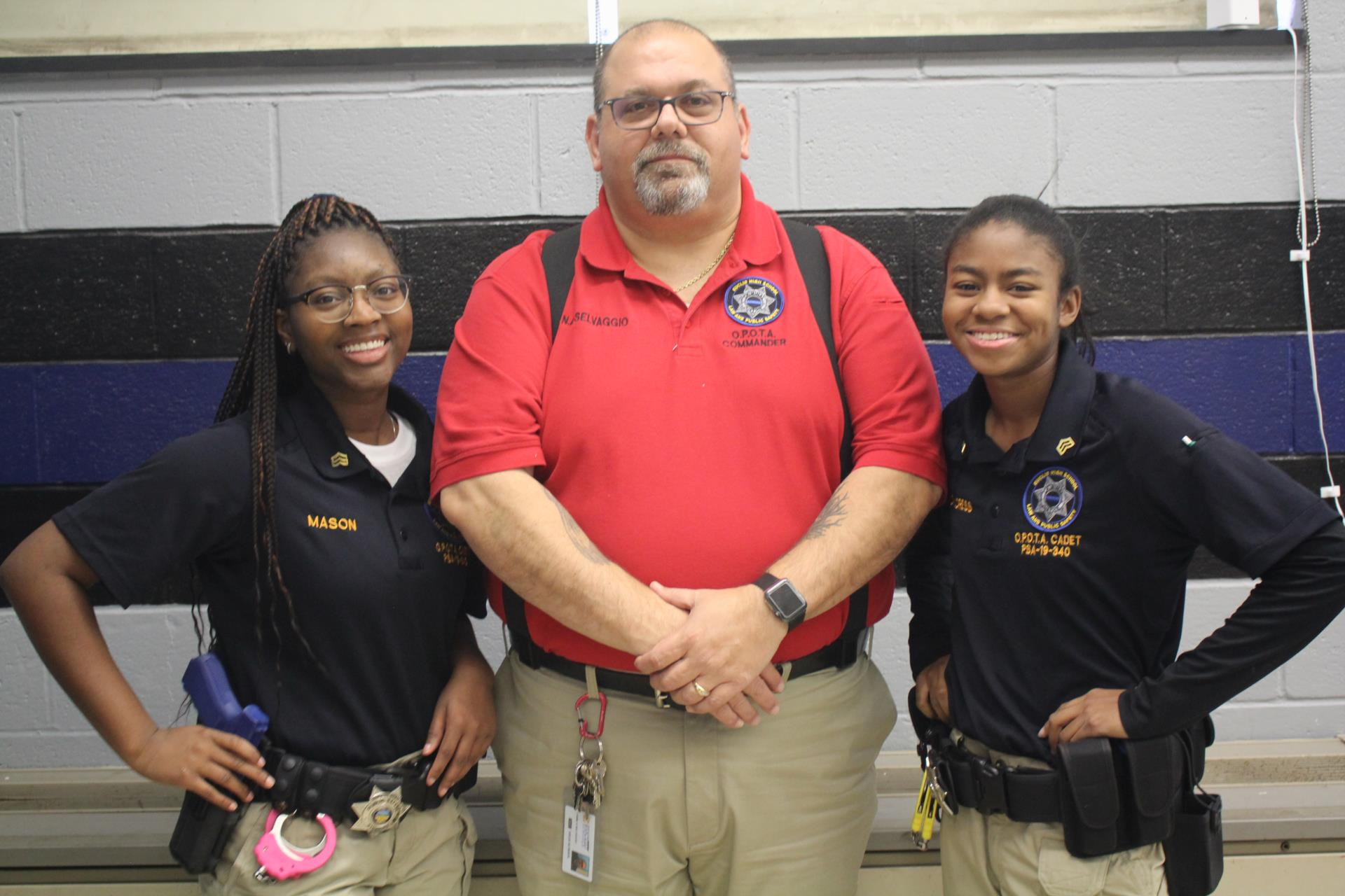 Criminal justice students and instructor