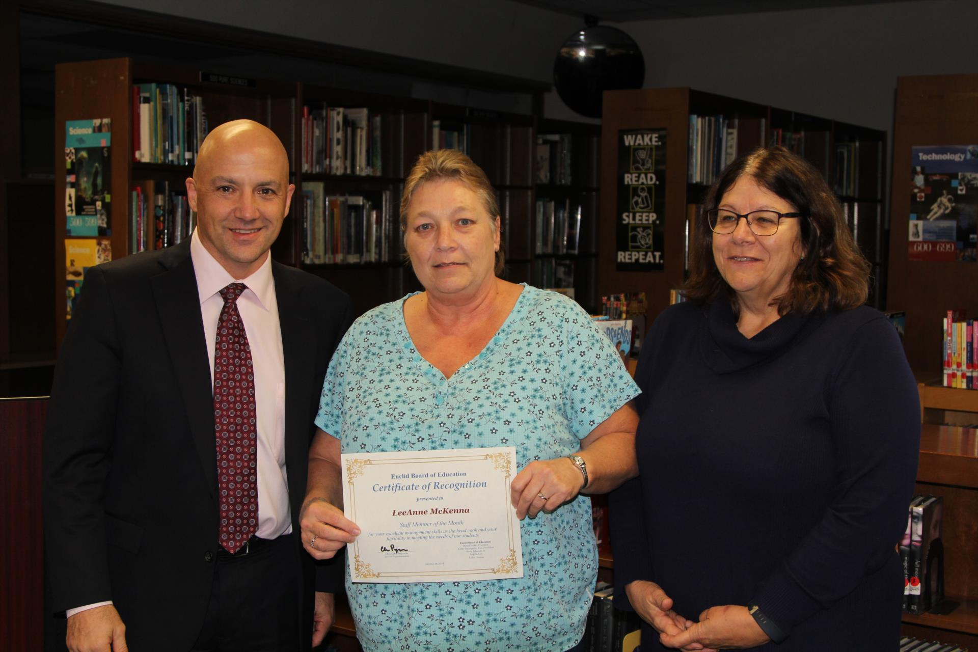 Employee recognized at board meeting