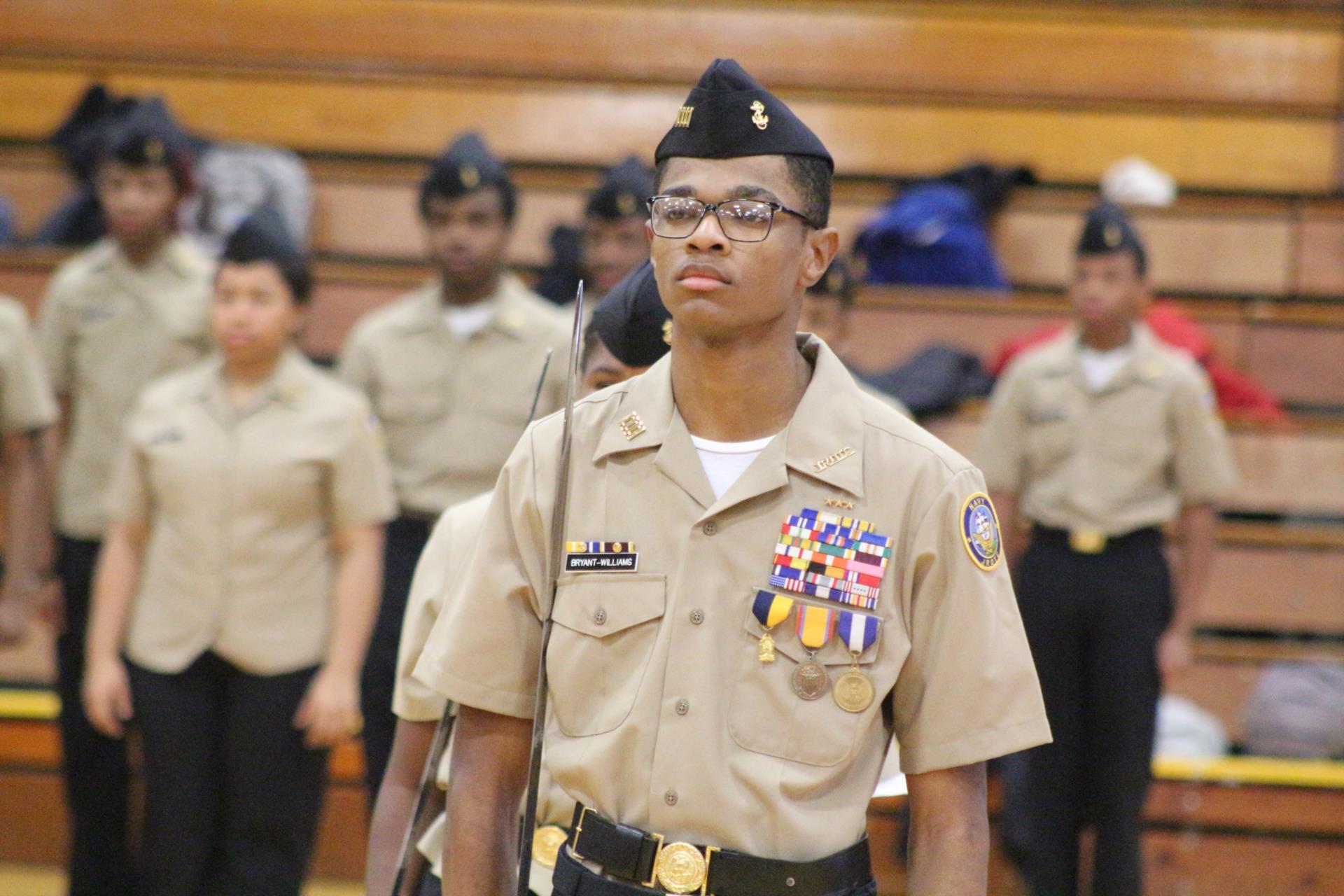 EHS student T'Sean JROTC