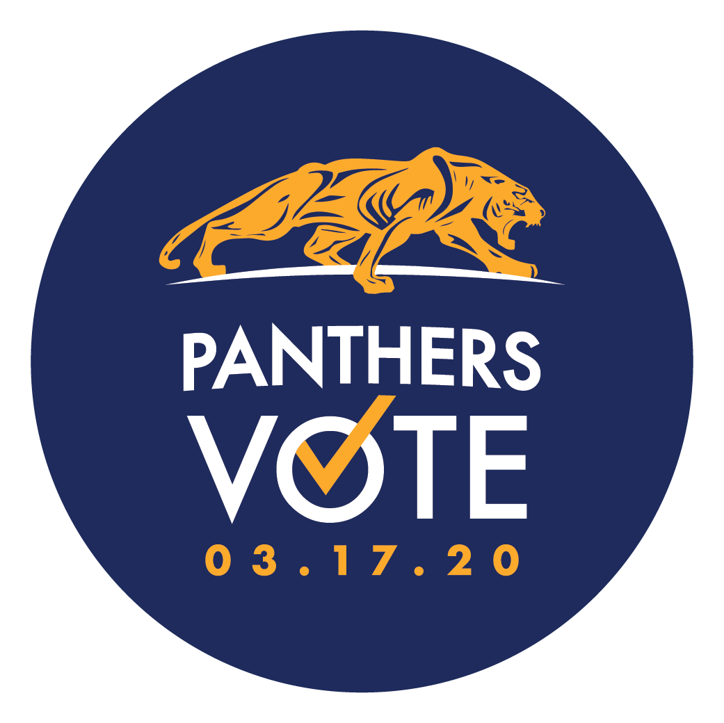 Panthers vote sticker