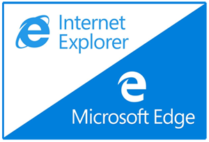 Edge Logo compared to Internet Explorer Logo