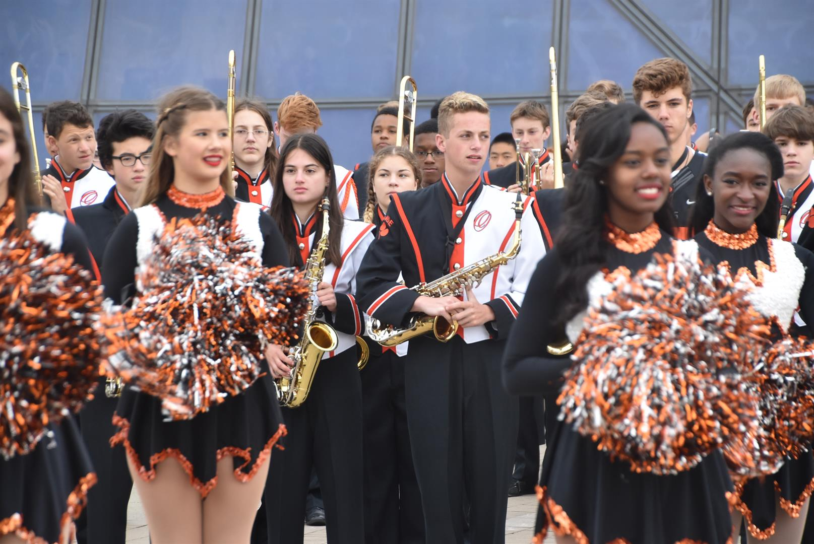 Band & Drill Team Perform at Rock Hall