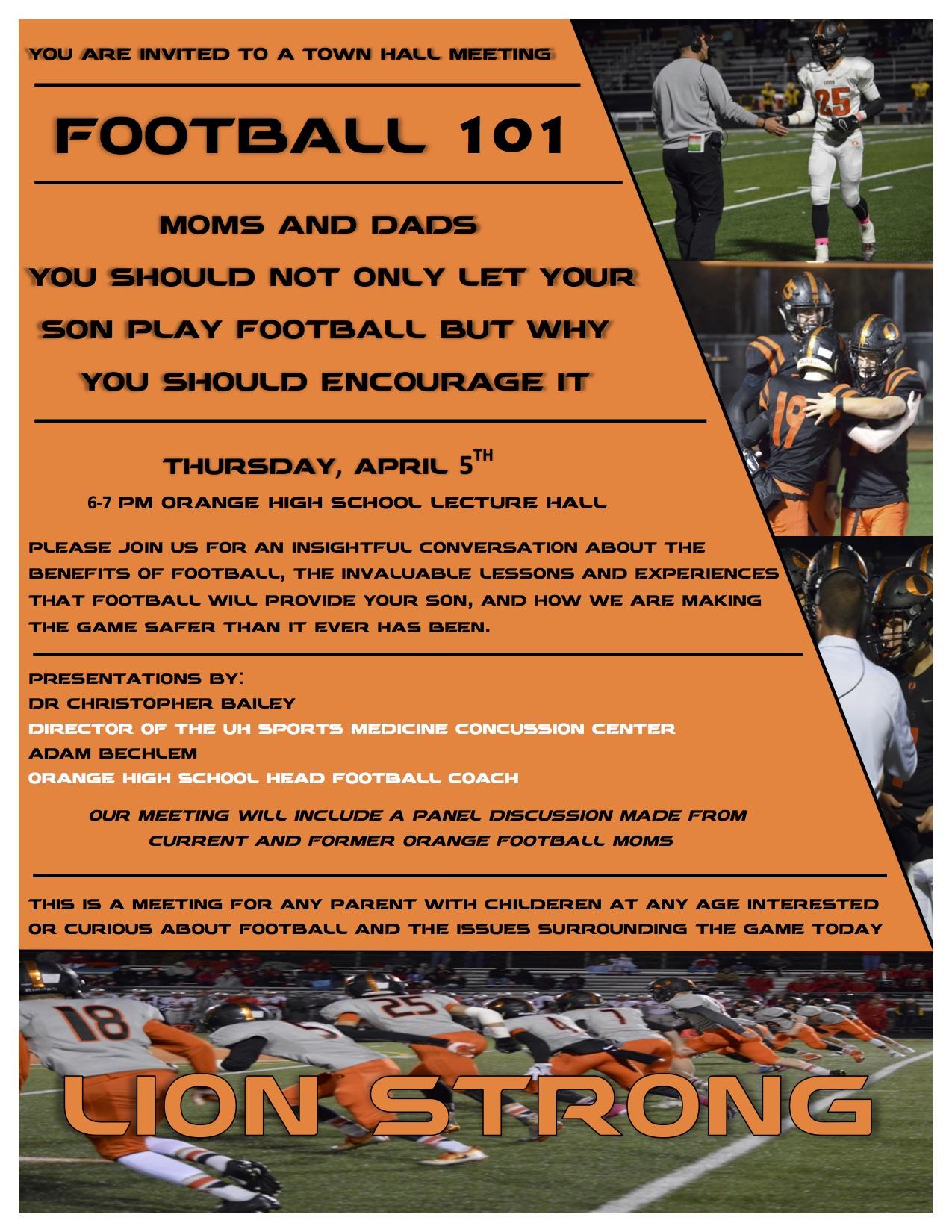 Football 101 flyer
