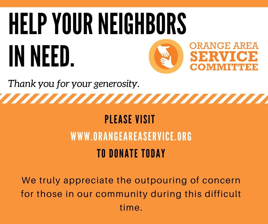 Orange Area Service Committee flyer