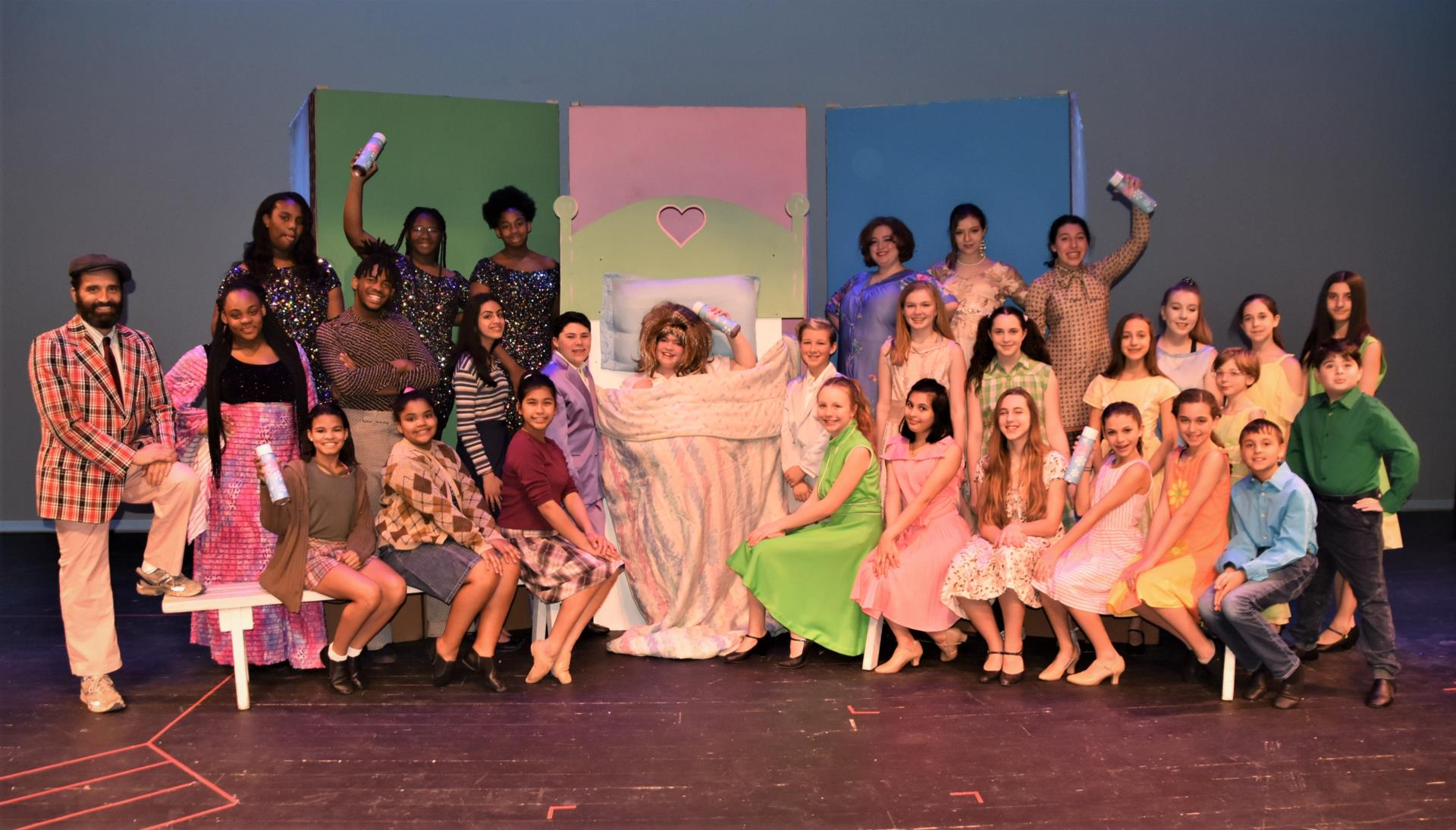 "Costumed Cast of BMS' ""Hairspray, Jr."""