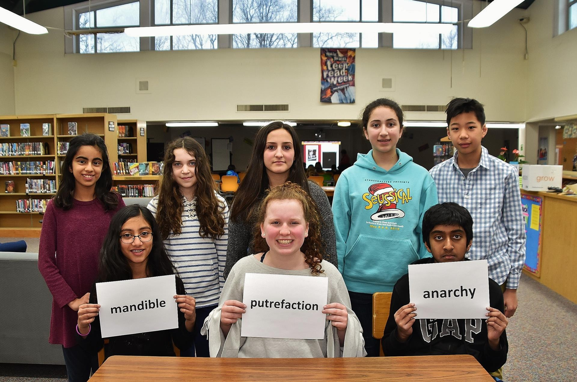 8 of the top BMS Spelling Bee Winners