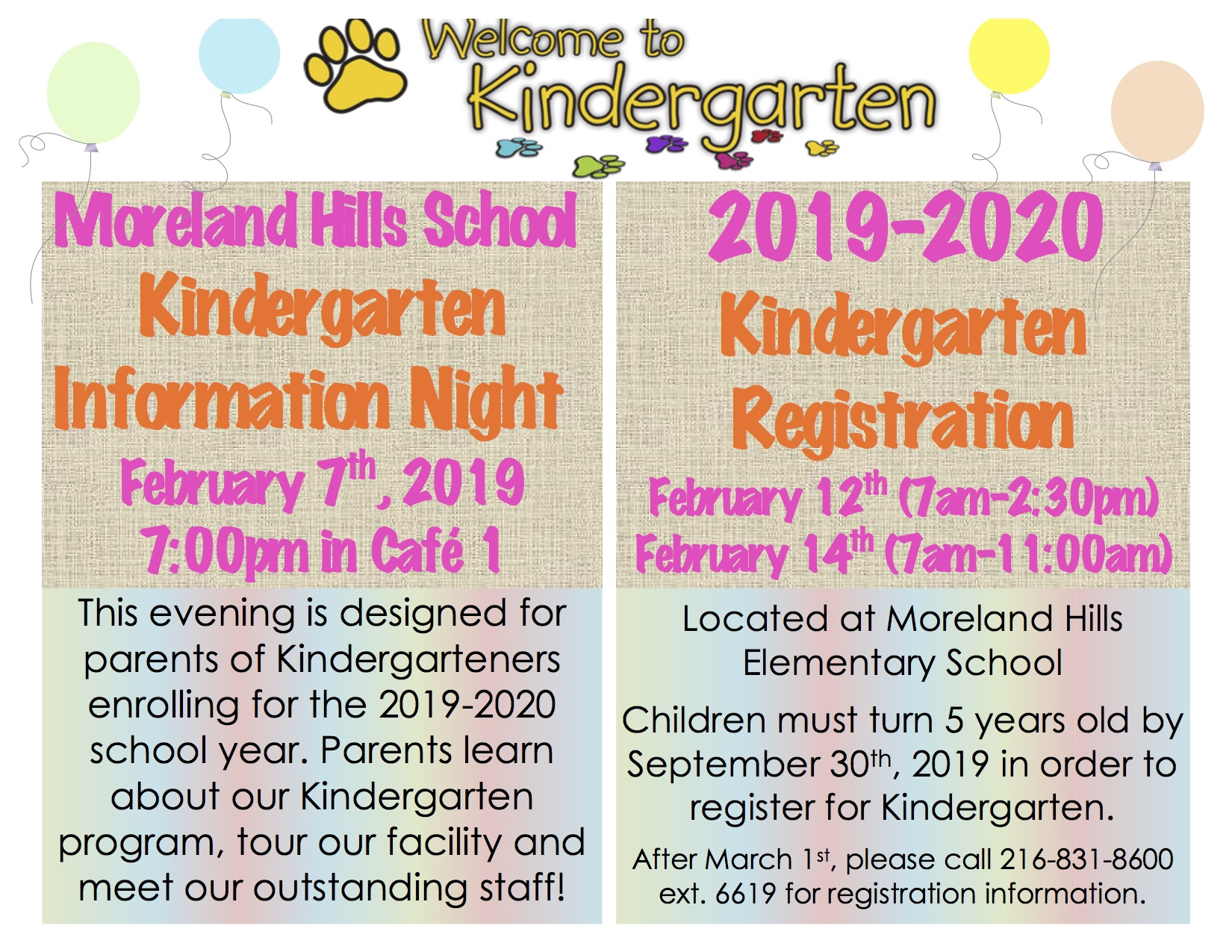 Kindergarten Flyer - click to read