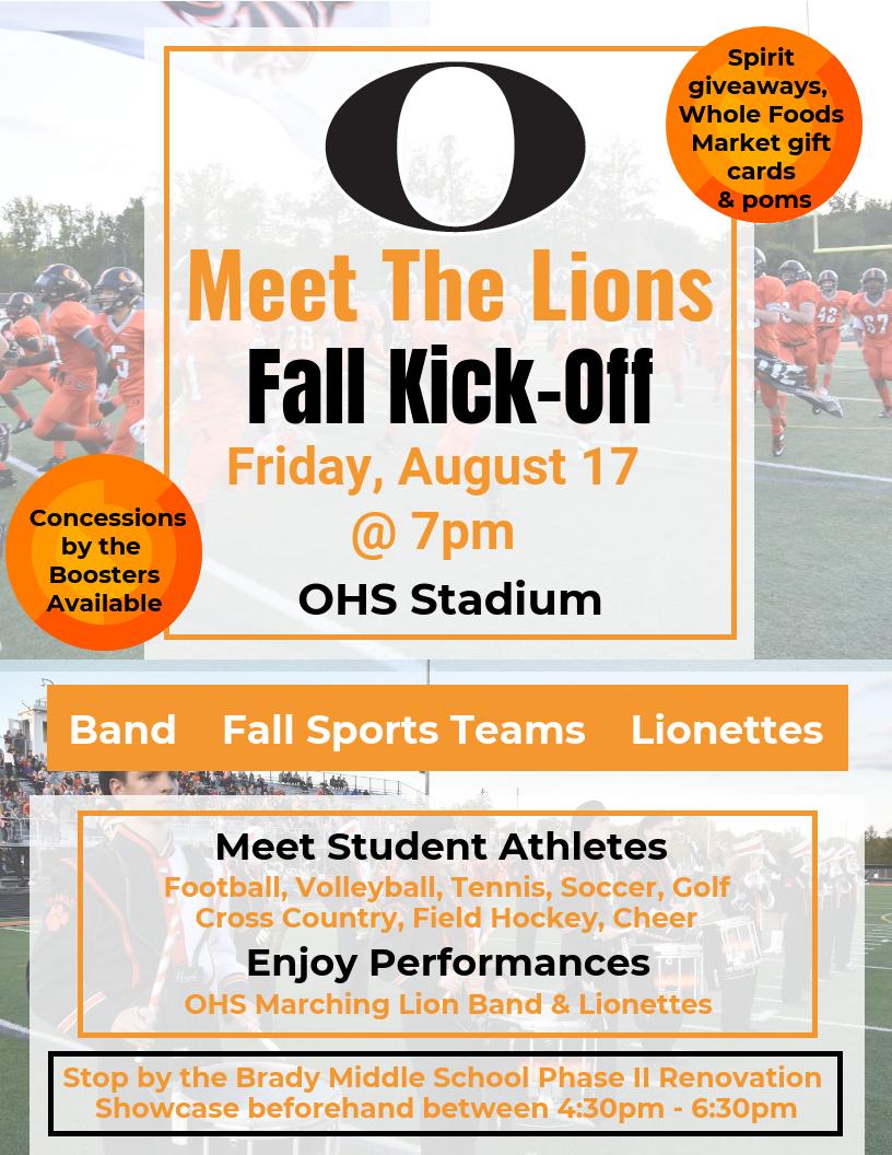 Meet the Lions flyer