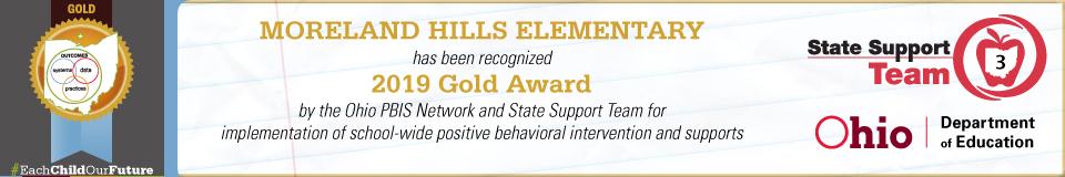PBIS 2019 Gold Award banner