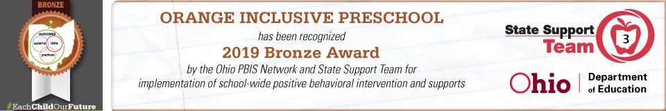 PBIS 2019 Bronze Award Banner