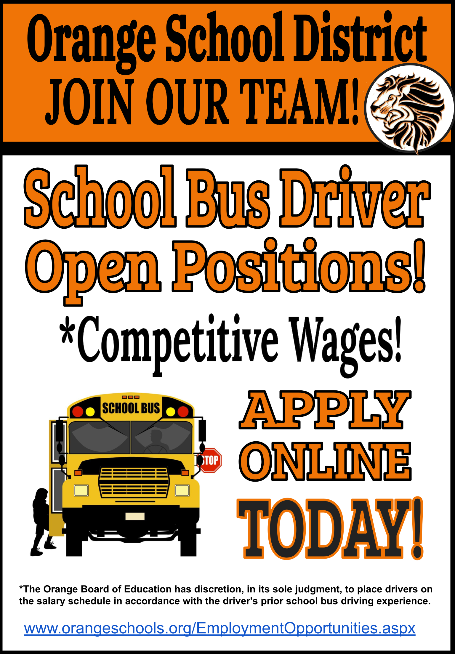 Bus Drive Application Information Flyer