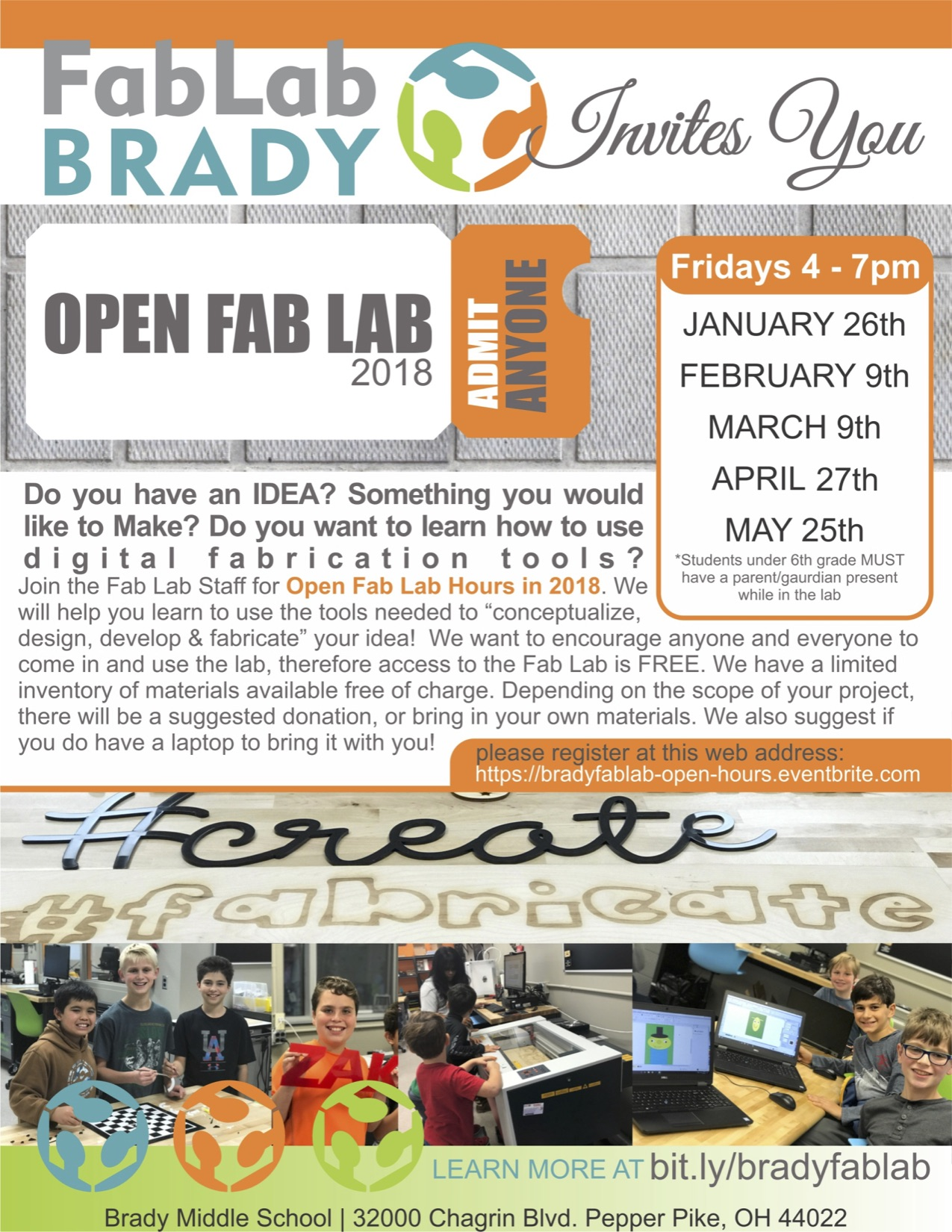 FabLab Open Hours Flyer