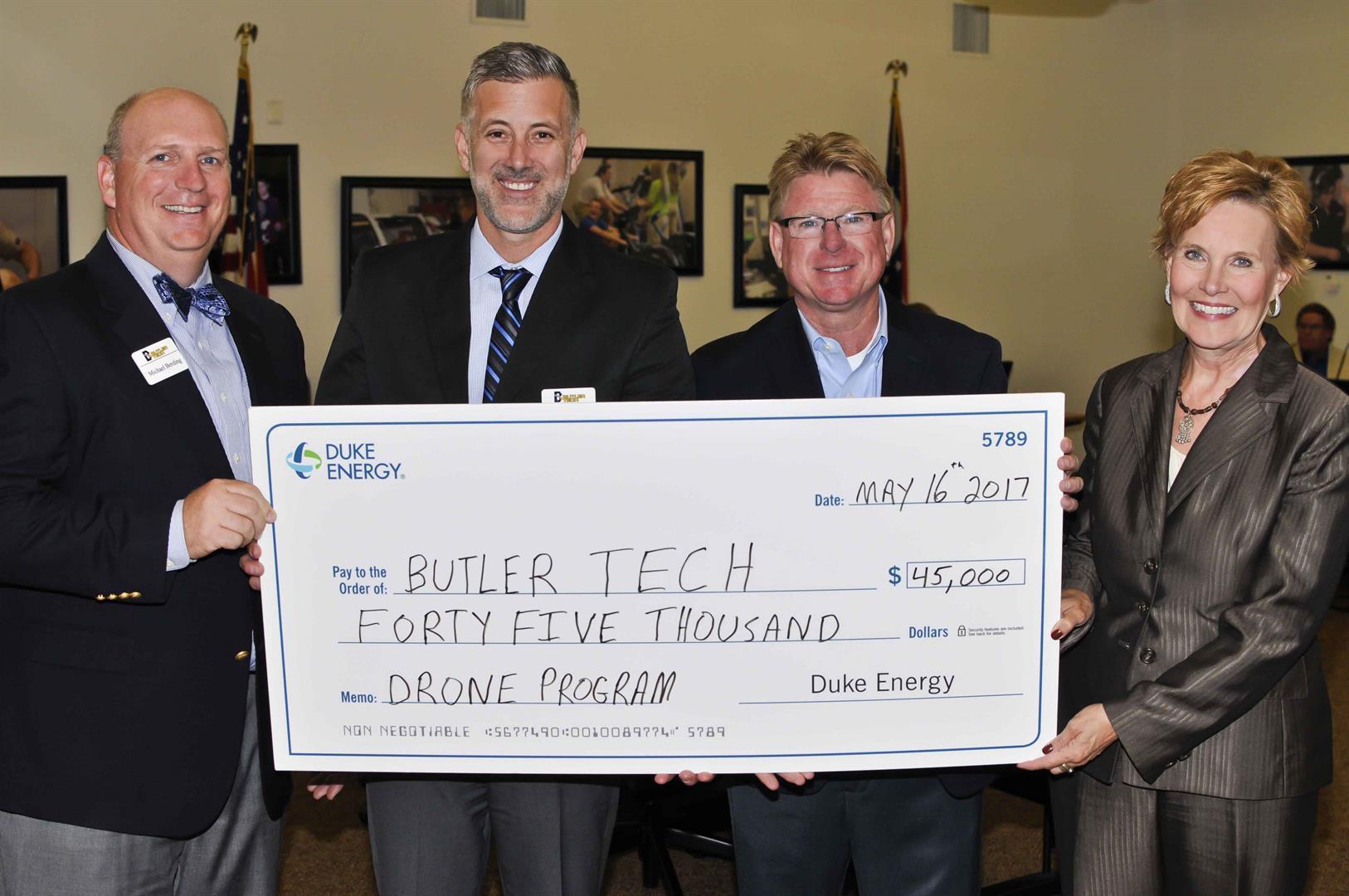 Duke Energy check presentation to Butler Tech