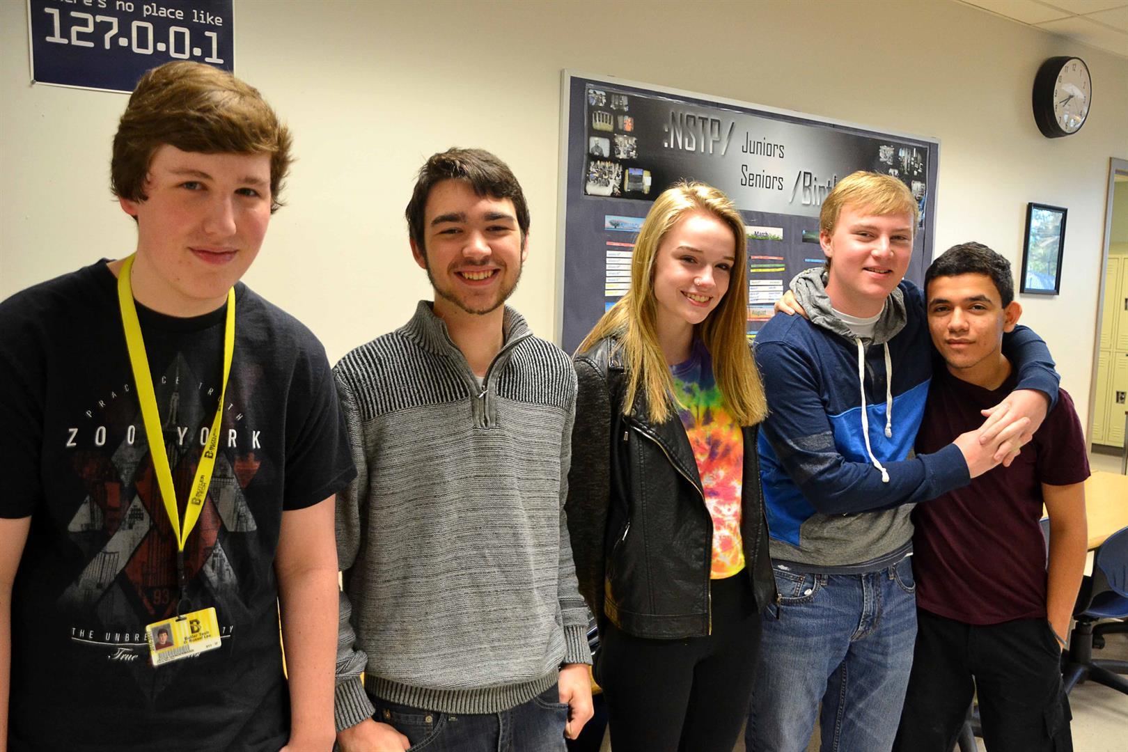 Butler Tech information technology students