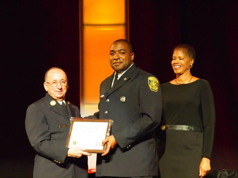 Firefighter presented EMS Award