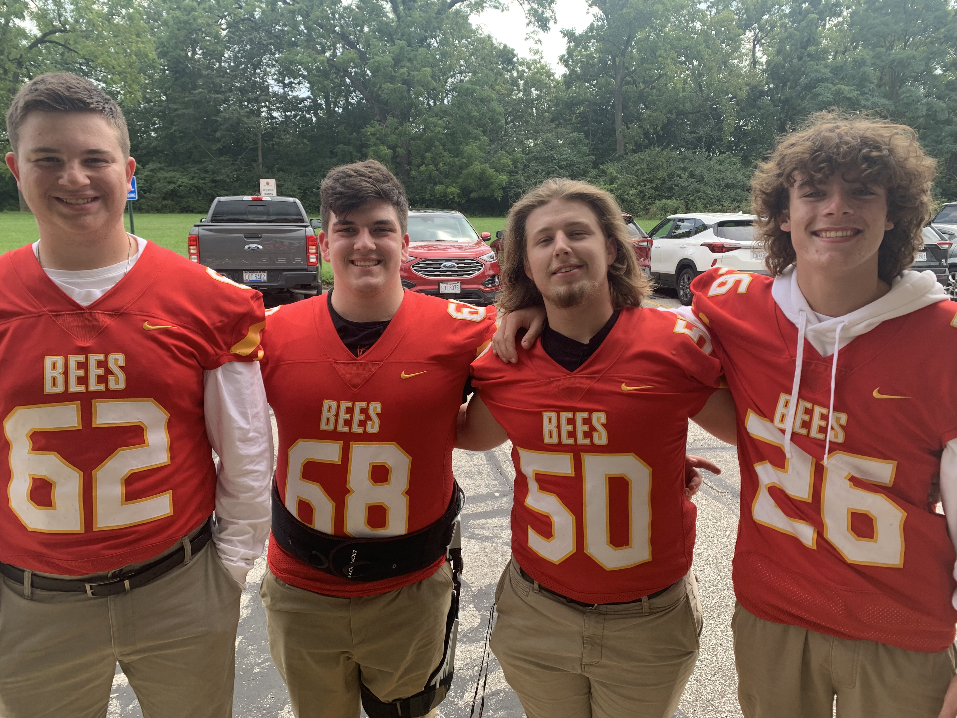 Members of the BBHHS Varsity Football  Team