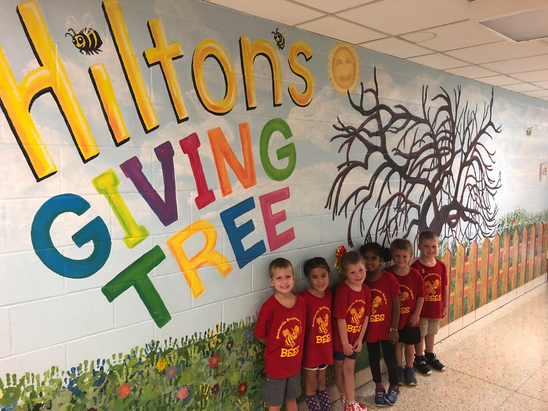 Hilton Kindergarten students