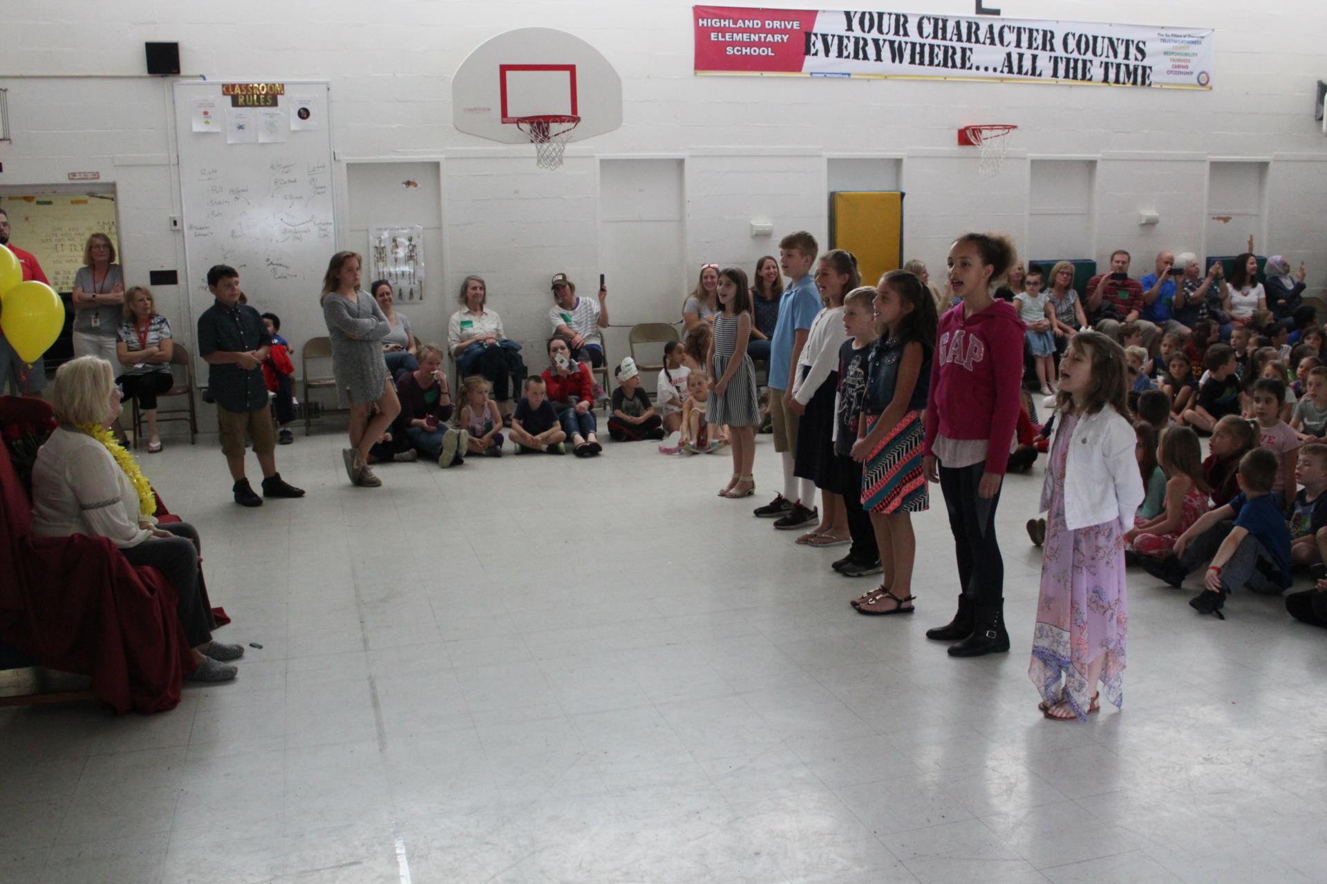 Highland Drive 3rd graders