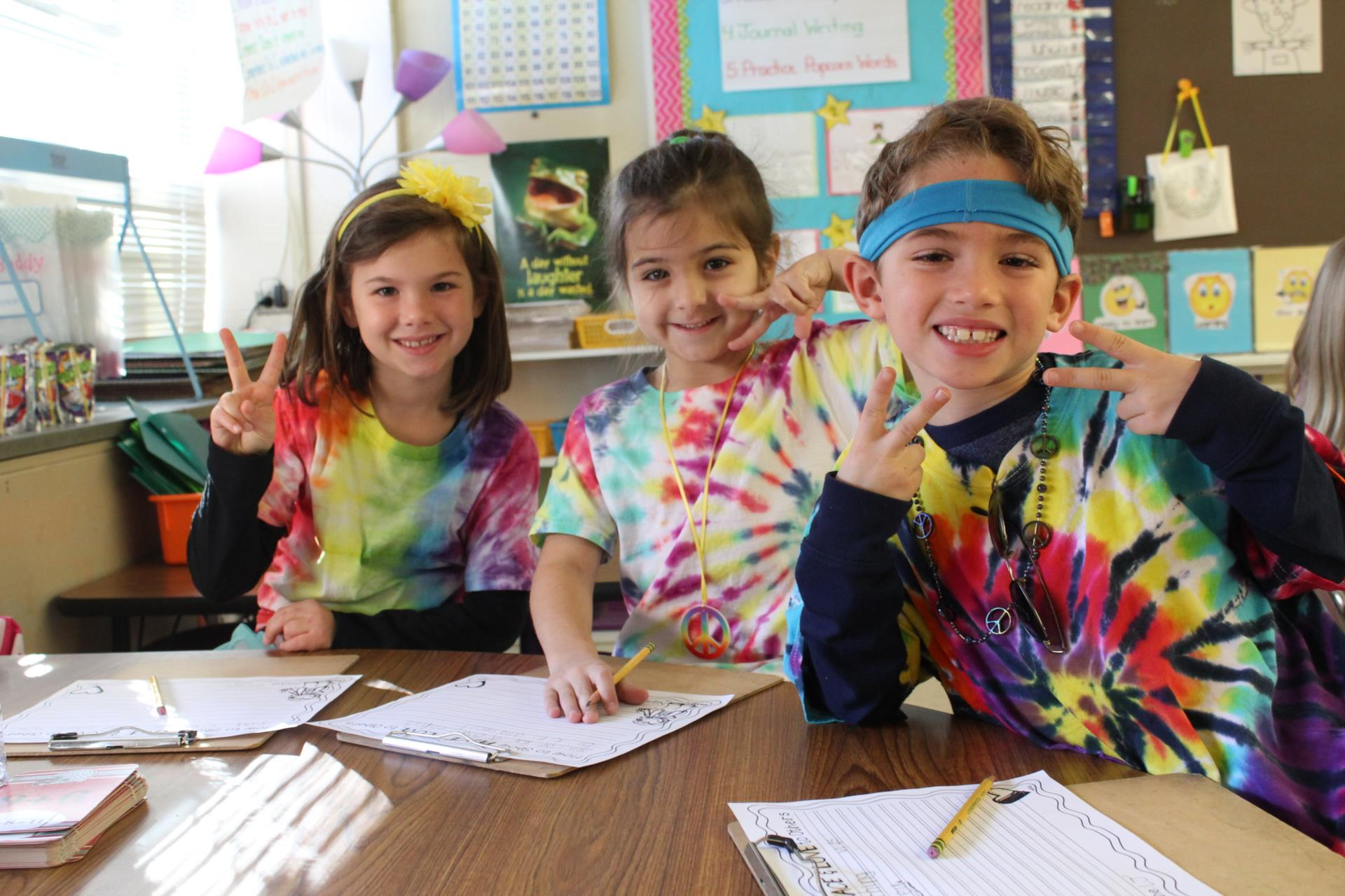 Hilton students celebrate Sixties Day