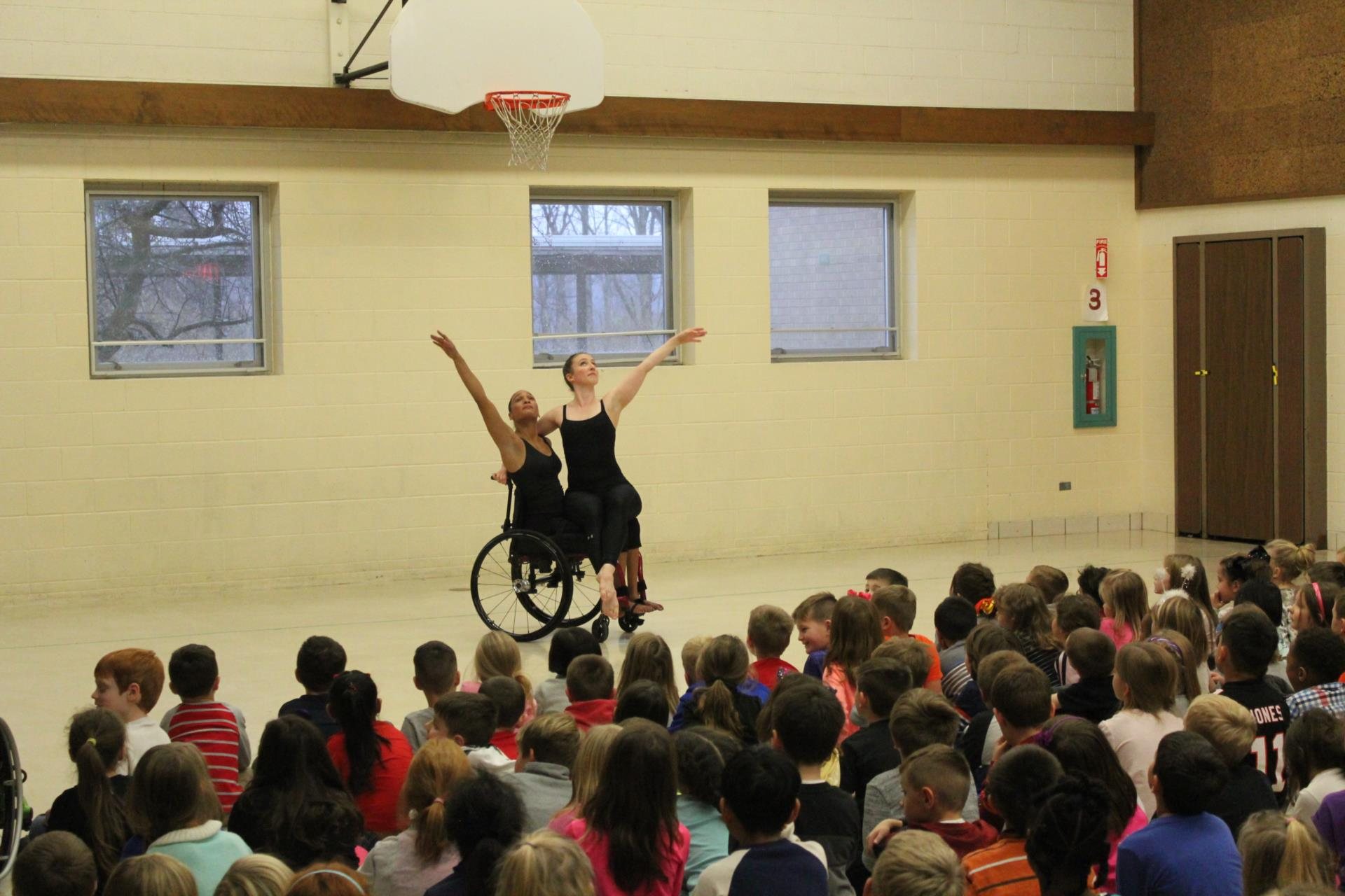Dancing Wheels Performance at Hilton Elementary
