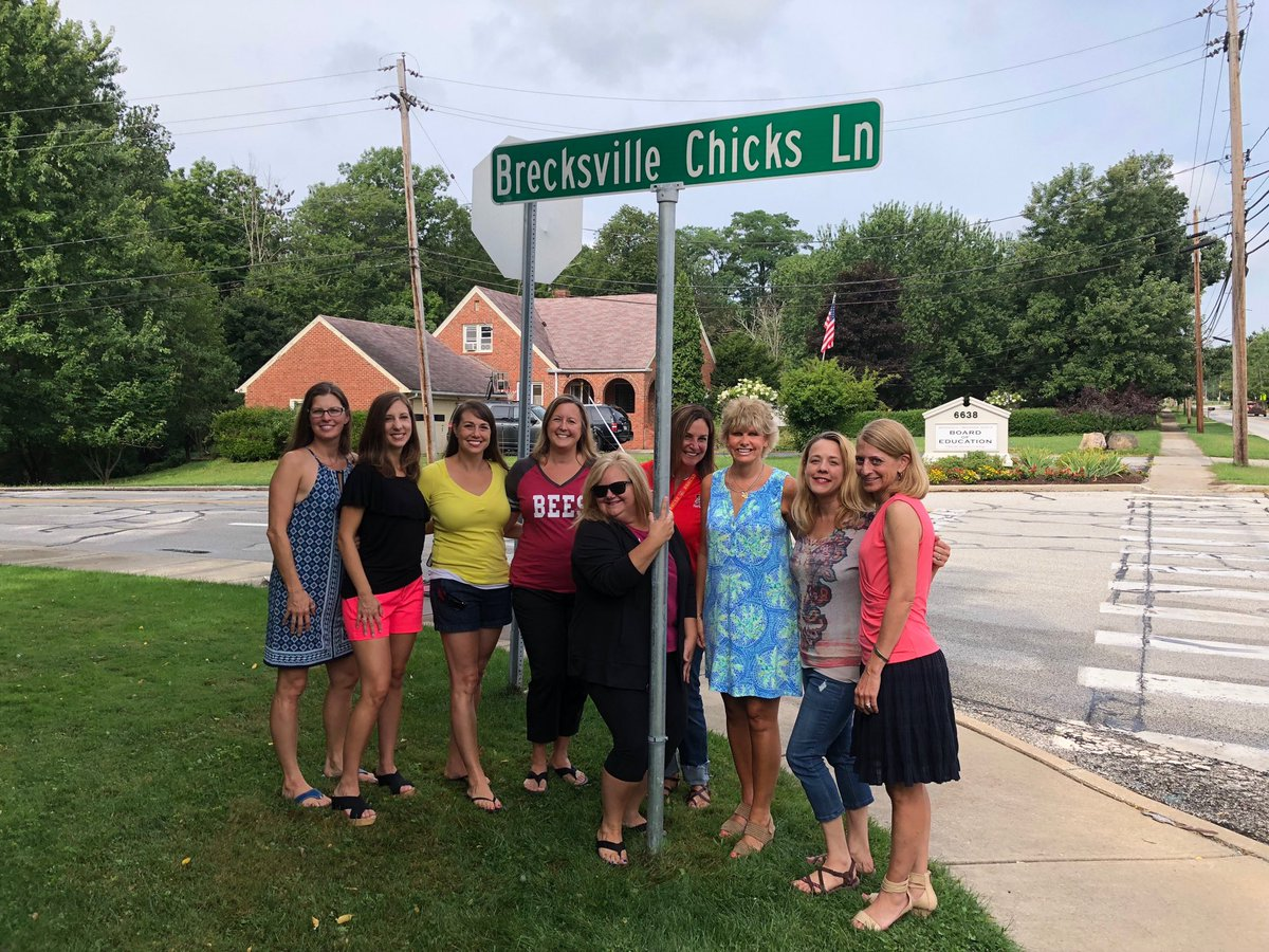 Brecksville Chicks with Superintendent Magyar
