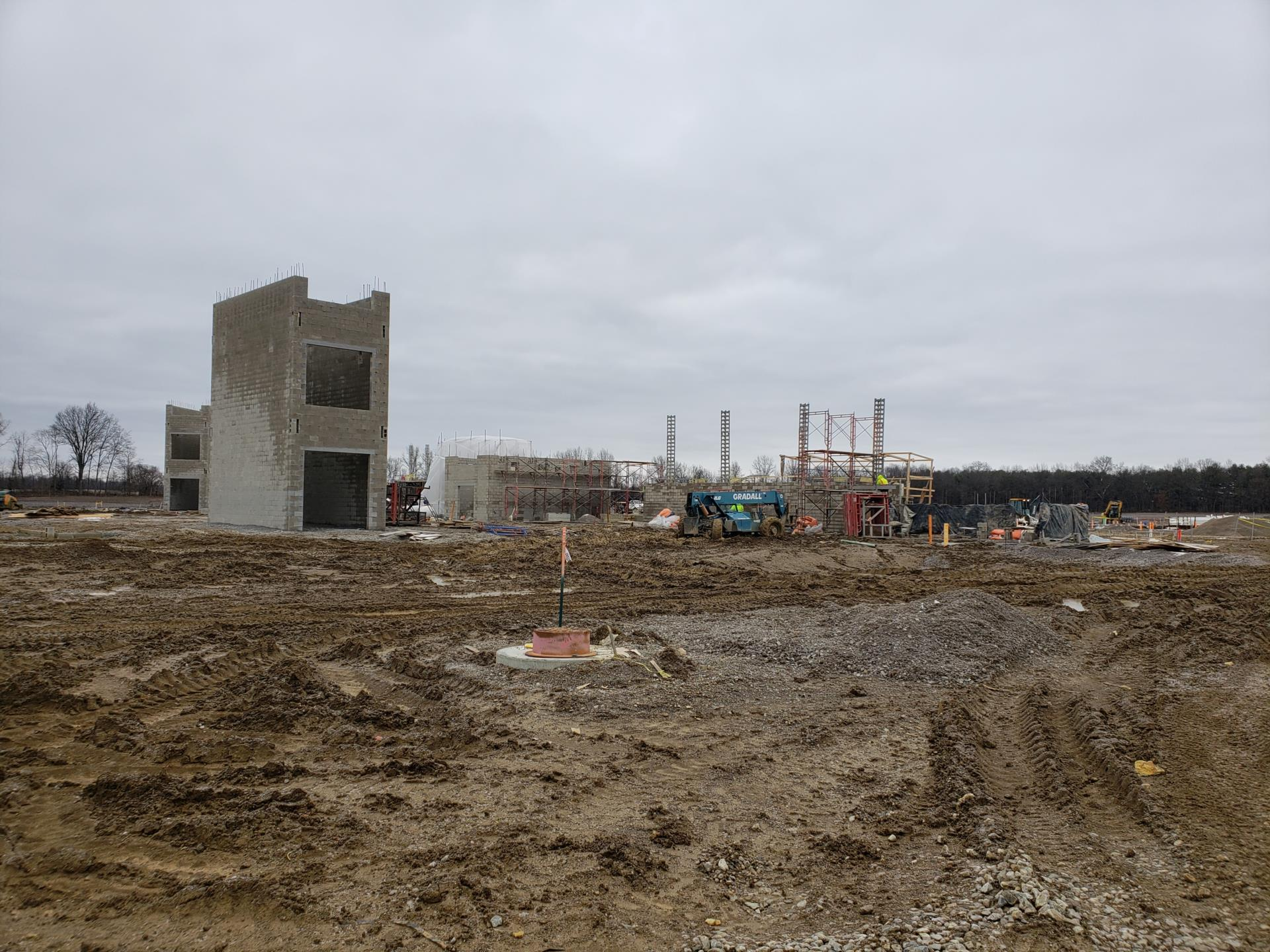 new high school from the southwest view 1/29/20