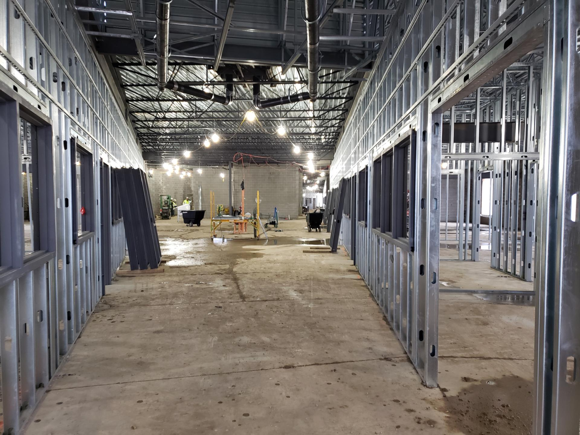 Extended learning hall at Prarie Run Elementary on January 29, 2020