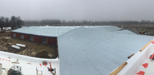 Prarie Run Elementary Roof View