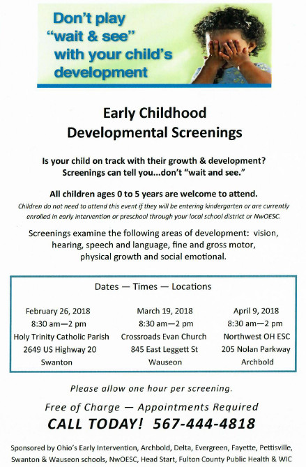 Early Childhood Development Screening