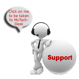Button to click on to get support