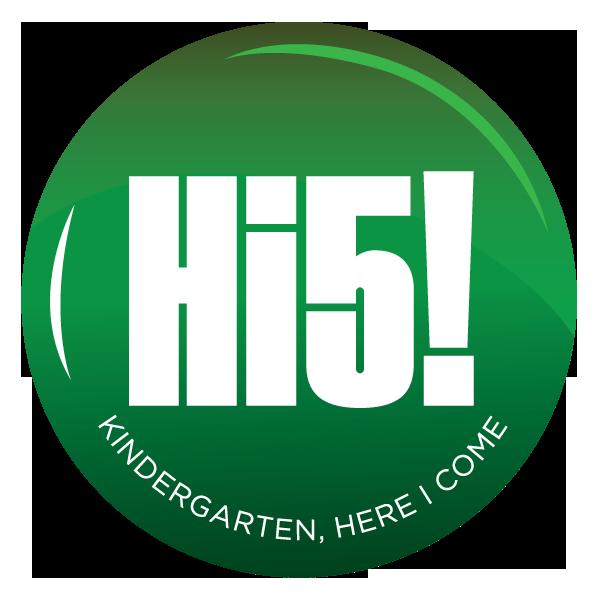 Hi5! Kindergarten, Here I Come logo