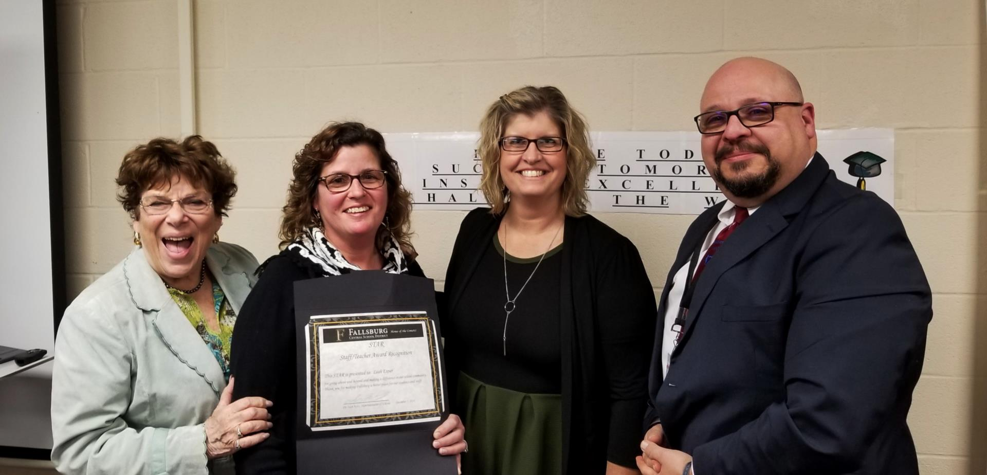 Ms. Exner Receives Star Award